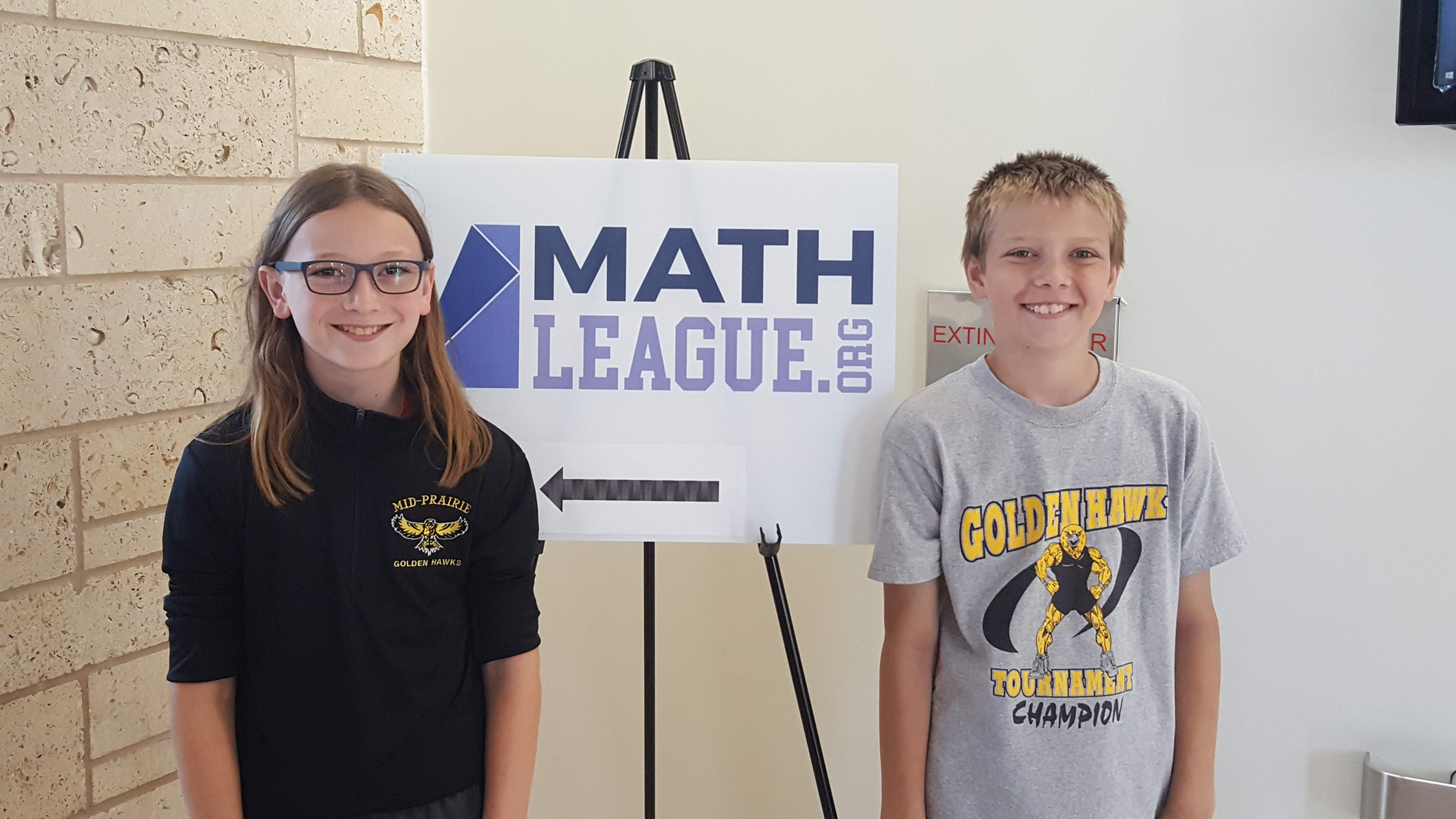 Caskey and Humble compete at Mathleague National Championship