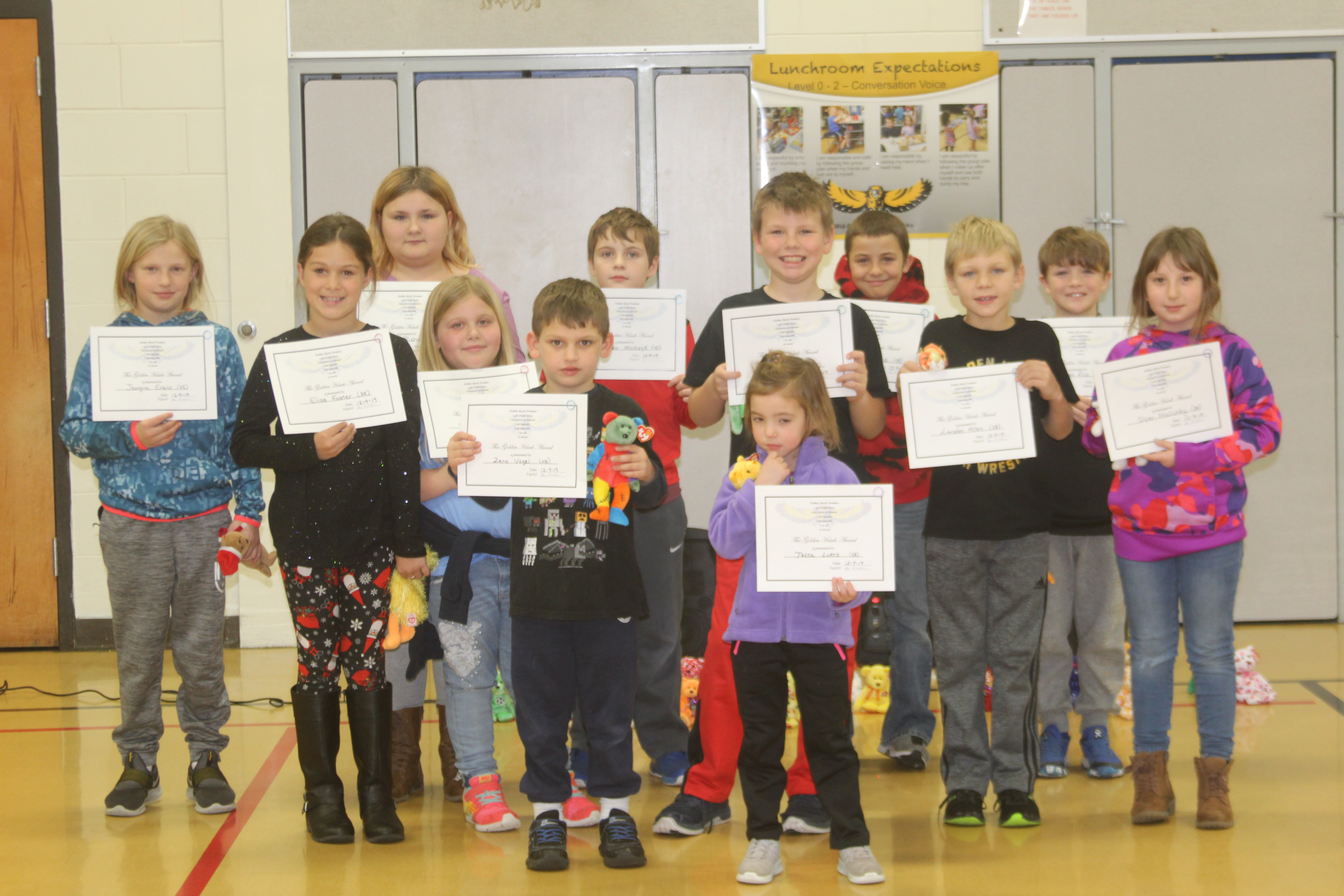 November PBIS Award Winners