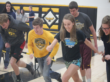 FFA students take off in a sprinting race