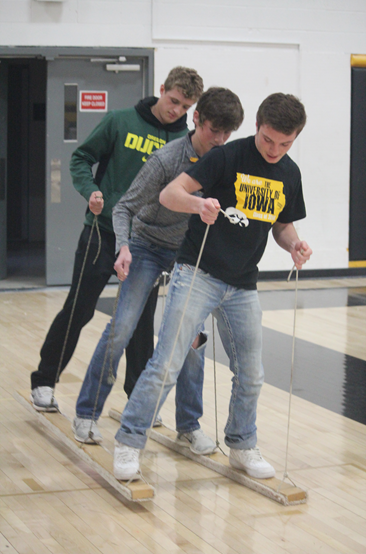 FFA students participate in teamwork games